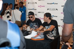 EC Twins stop by Finish Line at Beverly Center to promote Vlado Footwear's new LED Pack sneaker collection, Atlas and Lyte.