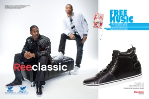 Two of the artists I managed, AD & Nino Magzoon in their spread for Reebok Fuze 1.0 in Hip Hop Weekly Magazine