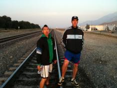 Sleeper and DJ Aristocat on their 100 mile course