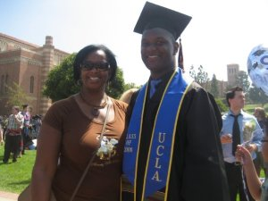 Me with my mom at my UCLA commencement.