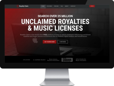 Royalty Claim website