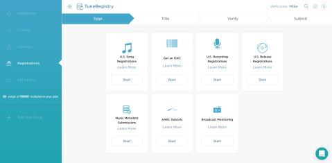 tuneregistry registrations