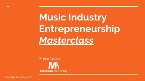 Music Industry Entrepreneurship Masterclass