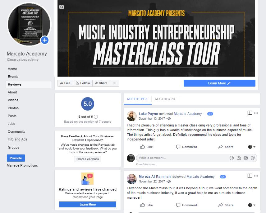 marcato academy facebook page