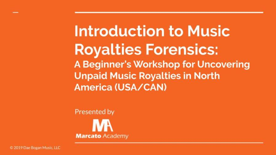Introduction to Music Royalties Forensics (North America)