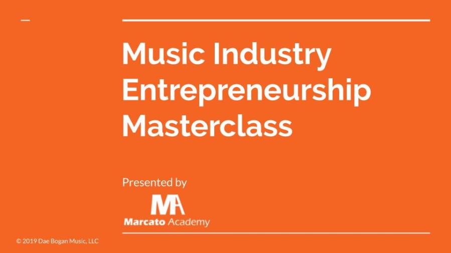 Music Industry Entrepreneurship Masterclass