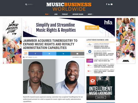 jammber tuneregistry music business worldwide